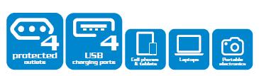 Resultado de imagen para publicaciones FORZA ESTACION DE CARGA 4 USB FSP-4402USB-C